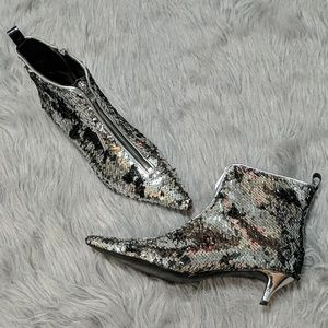 Zara Sequined Ankle Booties